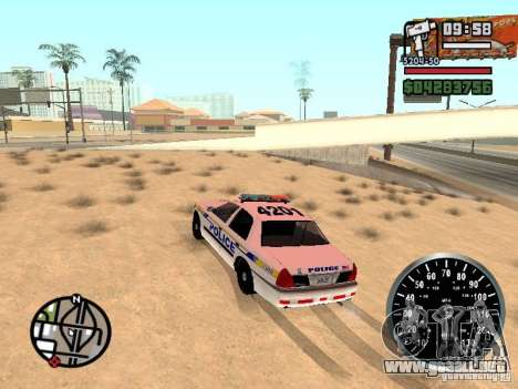 Ford Crown Victoria Police para GTA San Andreas left