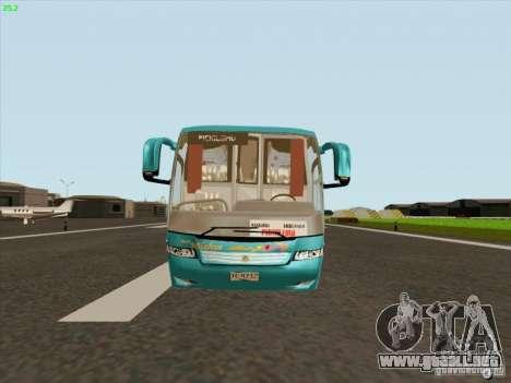 Mercedes-Benz Vissta Buss LO para GTA San Andreas vista posterior izquierda