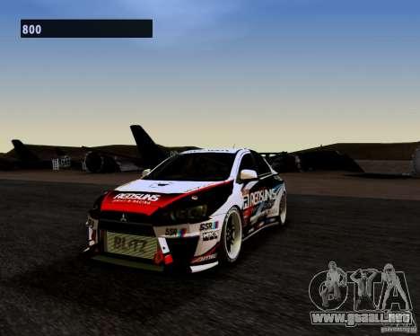 Mitsubishi Lancer Evo X 2008 para GTA San Andreas
