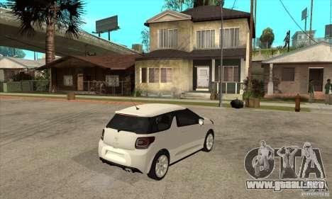 Citroen DS3 2010 para la visión correcta GTA San Andreas
