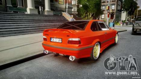 BMW E36 Alpina B8 para GTA 4 vista superior