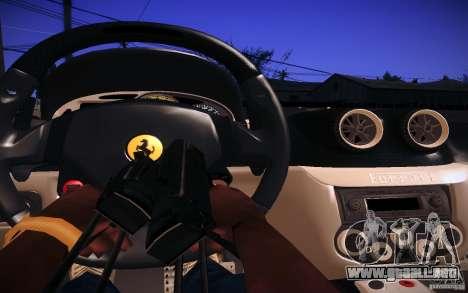 Ferrari 599 GTB Fiorano 2010 para visión interna GTA San Andreas