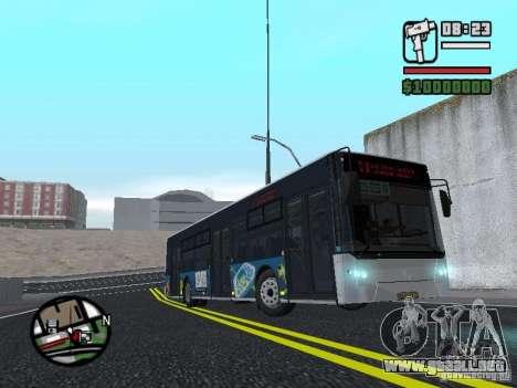 CityLAZ 12 LF para GTA San Andreas vista hacia atrás