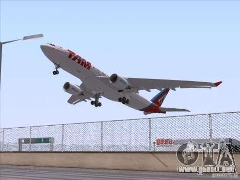 Airbus A330-223 TAM Airlines para la visión correcta GTA San Andreas