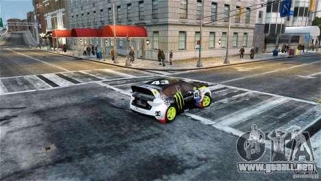Subaru Impreza WRX STI Rallycross Monster Energy para GTA 4 left