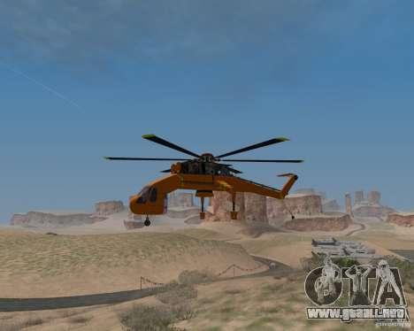 Skylift para la visión correcta GTA San Andreas