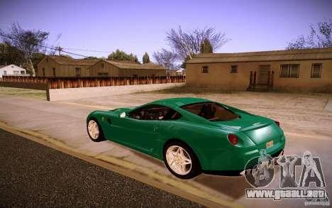 Ferrari 599 GTB Fiorano 2010 para la visión correcta GTA San Andreas