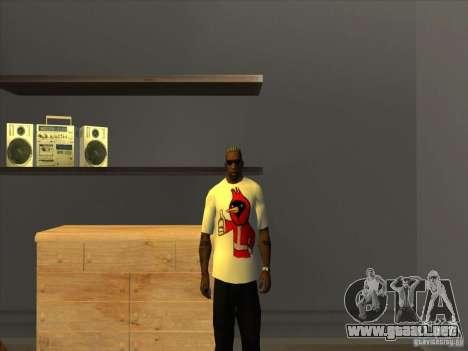 Omsk pájaro t-shirt para GTA San Andreas tercera pantalla