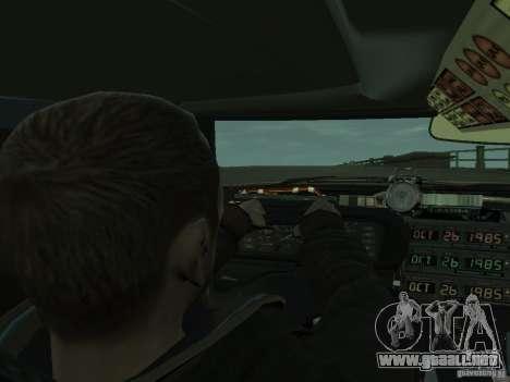 DeLorean BTTF 2 para GTA 4 vista hacia atrás