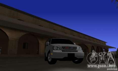 Lexus RX300 para GTA San Andreas vista hacia atrás
