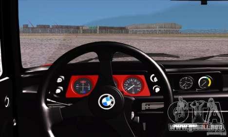 BMW 2002 Turbo para vista lateral GTA San Andreas