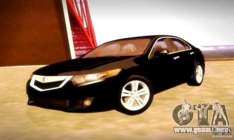 Acura TSX V6 para GTA San Andreas vista hacia atrás
