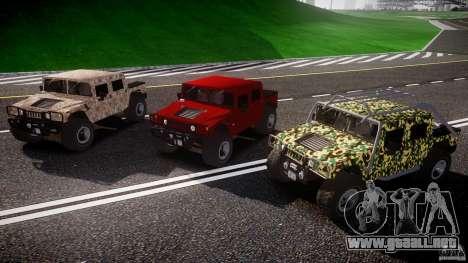 Hummer H1 4x4 OffRoad Truck v.2.0 para GTA 4 vista superior