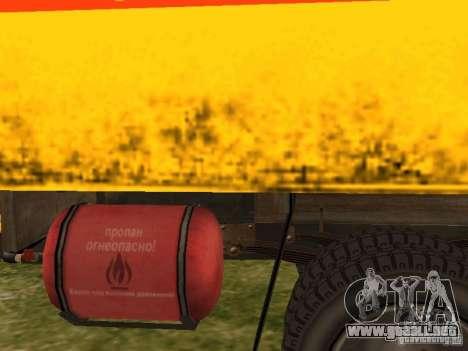 GAZ 53 para GTA San Andreas vista hacia atrás