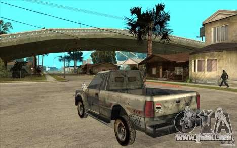 Rusty Mazda Pickup para GTA San Andreas vista posterior izquierda