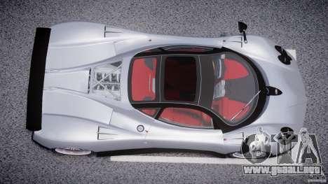 Pagani Zonda F para GTA 4 vista superior