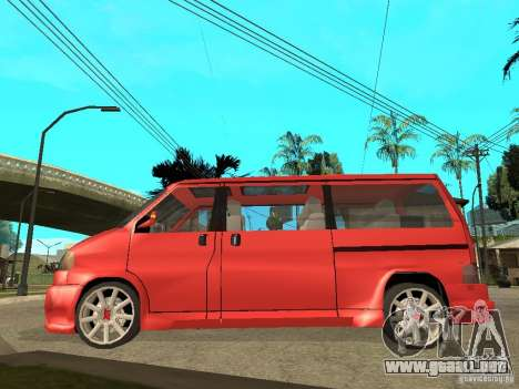 VW T4 Eurovan VR6 BiTurbo 20T para GTA San Andreas left