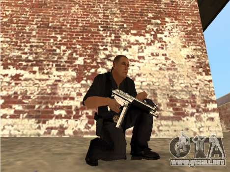Chrome and Blue Weapons Pack para GTA San Andreas tercera pantalla