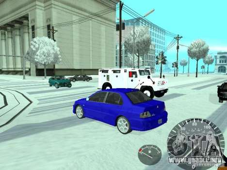 Mitsubishi Lancer Evolution 8 FQ400 para GTA San Andreas left