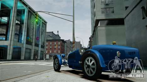 Bugatti Type 35C para GTA 4 vista interior