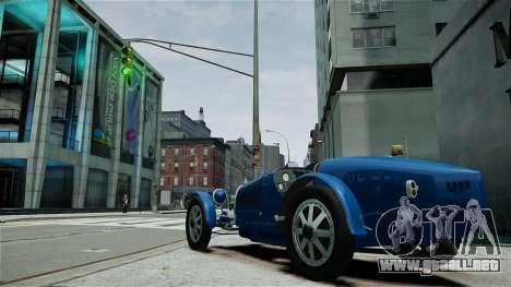 Bugatti Type 35C para GTA 4 vista interior