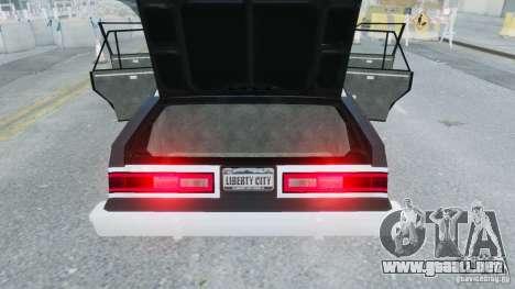 Dodge Diplomat 1983-85 para GTA 4 visión correcta