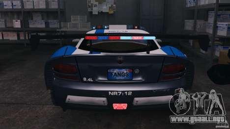 Dodge Viper SRT-10 ACR ELITE POLICE [ELS] para GTA 4 vista superior
