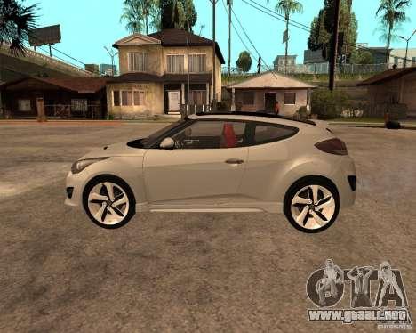Hyundai Veloster 2012 para GTA San Andreas left