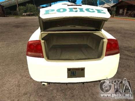 Dodge Charger Police NYPD para GTA San Andreas vista hacia atrás