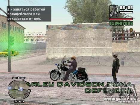 Helmet mod para GTA San Andreas tercera pantalla
