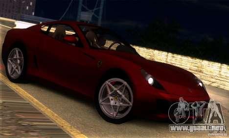 Ferrari 599 GTB Fiorano para la visión correcta GTA San Andreas