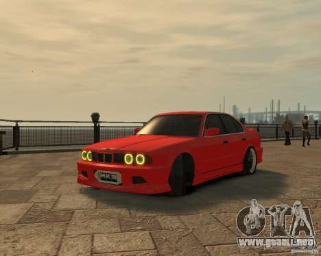 Bmw 535i (E34) tuning para GTA 4 visión correcta
