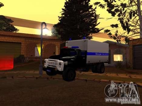 ZIL 130 policía para GTA San Andreas left