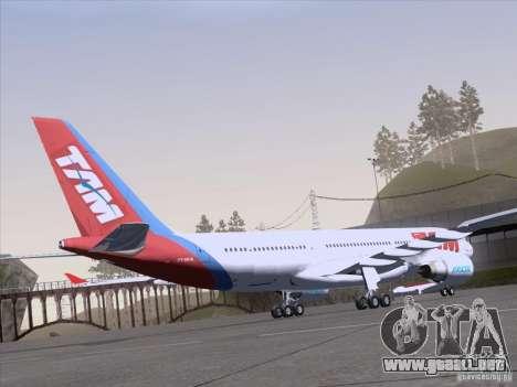 Airbus A330-223 TAM Airlines para visión interna GTA San Andreas