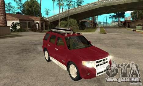 Ford Escape 2009 para GTA San Andreas vista hacia atrás