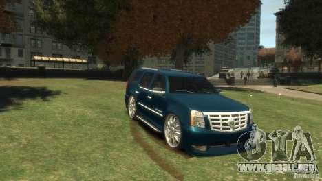 Cadillac Escalade Dub para GTA 4 vista hacia atrás