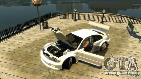 BMW E46 M3 GTR Sport para GTA 4 vista hacia atrás