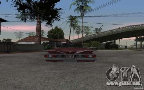 Chevrolet Impala 1960 para GTA San Andreas vista posterior izquierda