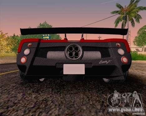 Pagani Zonda F v2 para la visión correcta GTA San Andreas