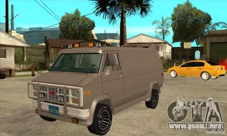 GMC Van 1983 para GTA San Andreas