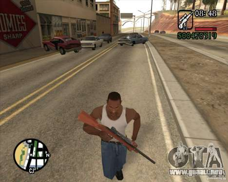 Endorphin Mod v.3 para GTA San Andreas sucesivamente de pantalla