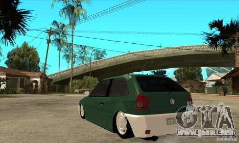Volkswagen Gol v1 para GTA San Andreas vista posterior izquierda