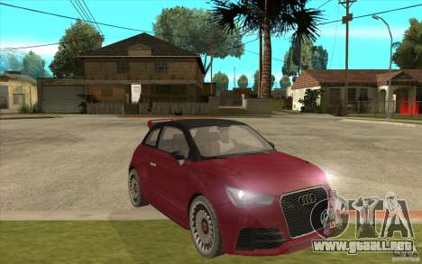 Audi A1 Clubsport Quattro para GTA San Andreas vista hacia atrás