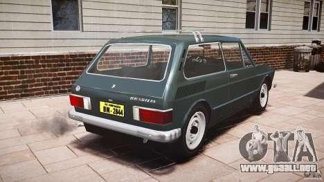 Volkswagen Brasilia para GTA 4 Vista posterior izquierda