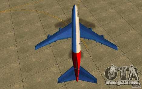 Boeing Qantas 747-400 para la visión correcta GTA San Andreas