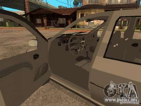Dacia Logan 1.6 para la vista superior GTA San Andreas