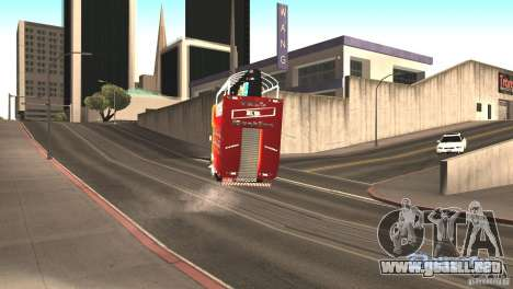Scania 93H 6x2 Trio Eletrico para GTA San Andreas vista hacia atrás