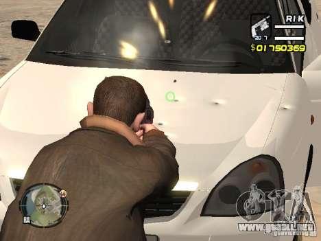 LADA Priora 2170 para GTA San Andreas vista hacia atrás