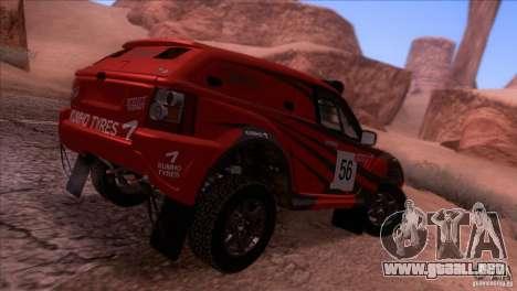 Range Rover Bowler Nemesis para GTA San Andreas vista posterior izquierda