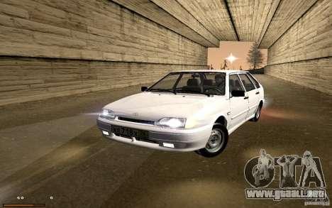 ВАЗ 2114 calidad para GTA San Andreas vista hacia atrás